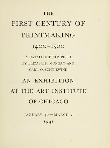 The first century of printmaking, 1400-1500