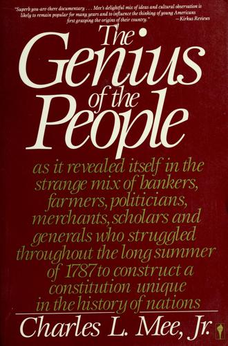 The genius of the people by Charles L. Mee