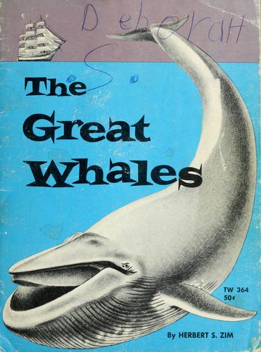 The great whales by Herbert S. Zim