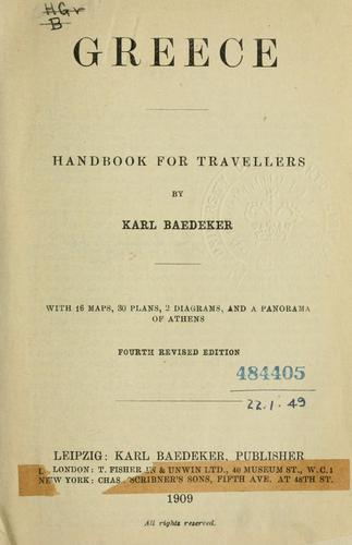 Greece by Karl Baedeker (Firm)