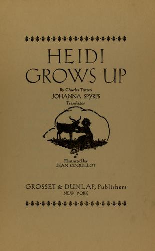 Heidi grows up by Charles Tritten