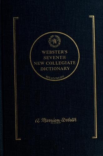 Webster's seventh new collegiate dictionary by